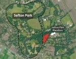SEFTON PARK Meadows. Location map 2013