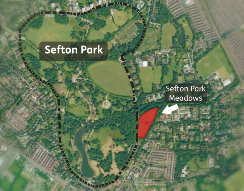 SEFTON PARK Meadows. Location map 2013