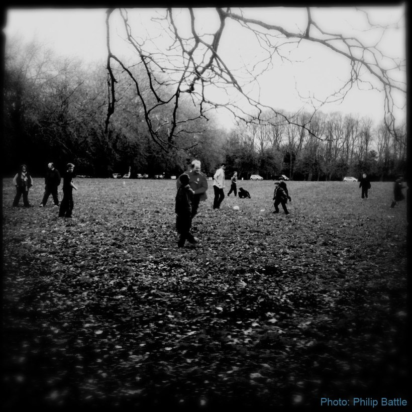 Local Scouts group, playing on The Meadows: April 2013