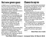 Letters from Greenspace campaigners