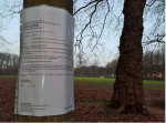 Site Notice on Sefton Park Meadows